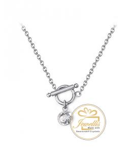 Ocelový náhrdelník Chaton Amer s krystalem Swarovski - chirurgická ocel 316L