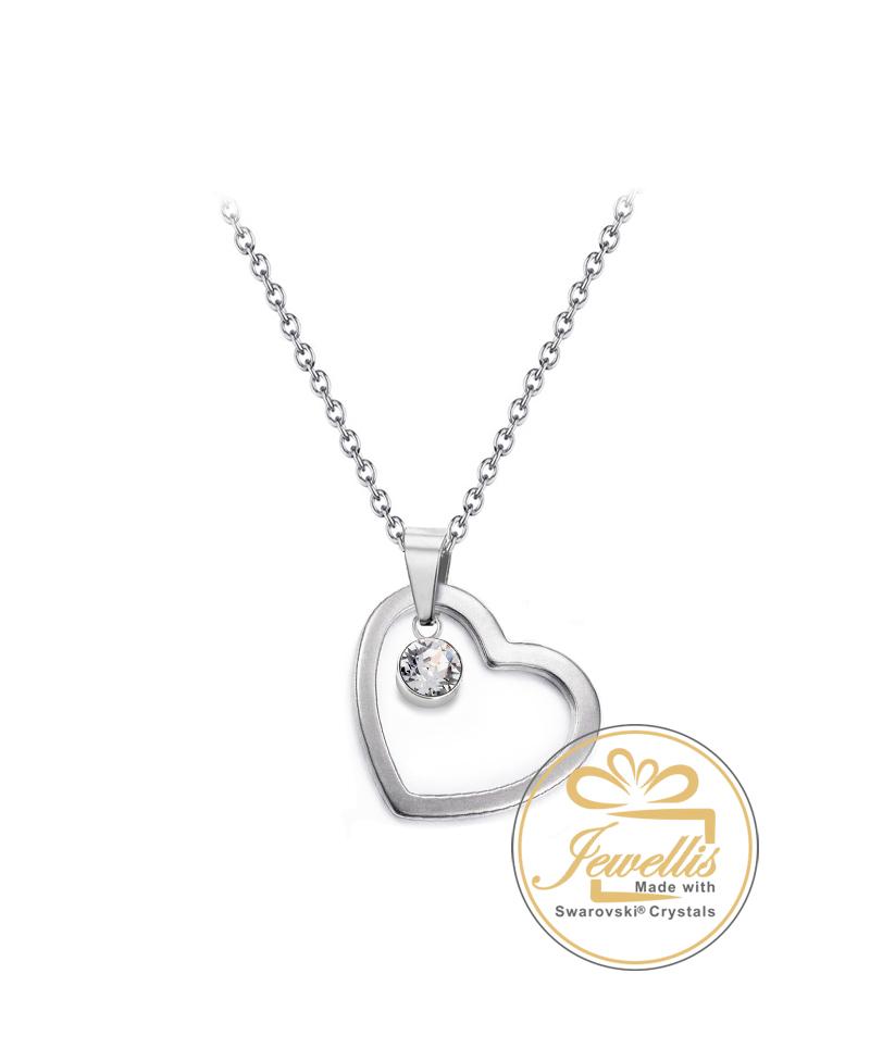 Ocelový náhrdelník Inheart Chaton s krystalem Swarovski - chirurgická ocel  316L 6713658b9cb