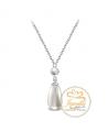 Ocelový náhrdelník Two Pearls s perlami Swarovski - chirurgická ocel 316L