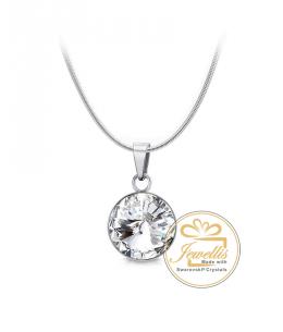 Ocelový náhrdelník Rivoli Unique Mini s krystaly Swarovski - chirurgická ocel 316L