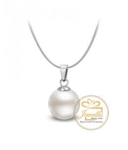 Ocelový náhrdelník Solid Pearl s perlou Swarovski - chirurgická ocel 316L