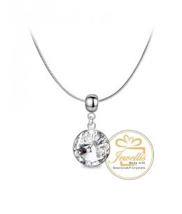 Ocelový náhrdelník Drop Rivoli s krystalem Swarovski - chirurgická ocel 316L