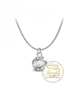 Ocelový náhrdelník Solid Chaton s krystalem Swarovski - chirurgická ocel 316L