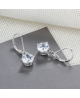 Stříbrné visací náušnice Drops se zirkony z pravého stříbra (925/1000)