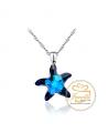 Stříbrný náhrdelník Starfish - řetízek a přívěsek s krystalem hvězdice Swarovski z pravého stříbra (925/1000)
