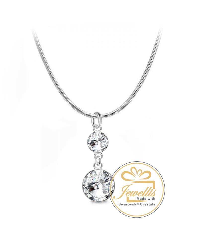 Ocelový náhrdelník Rivoli Chandelier s krystaly Swarovski - chirurgická  ocel 316L fccdd895a0b