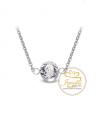 Ocelový náhrdelník Solitare Chaton s krystalem Swarovski - chirurgická ocel 316L
