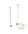 Ocelové náušnice řetízkové Dangle Chatons s krystaly Swarovski - chirurgická ocel 316L