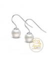 Ocelové visací náušnice French Hook Pearls s perlami Swarovski - chirurgická ocel 316L