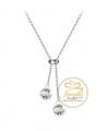 Ocelový náhrdelník Double Slide Chaton s krystaly Swarovski - chirurgická ocel 316L