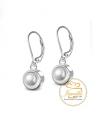 Ocelové náušnice Drop Cabochon Pearl zn. Jewellis s krystaly Swarovski - chirurgická ocel 316L