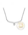 Ocelový náhrdelník Decent Drops s perlami a krystaly Swarovski - chirurgická ocel 316L