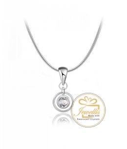 Ocelový náhrdelník Ring Crystals s krystalem Swarovski - chirurgická ocel 316L