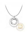 Ocelový náhrdelník ve tvaru kruhu Double Cosmic Ring Crystal CAL s krystalem Swarovski - chirurgická ocel 316L