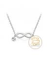 Ocelový náhrdelník Infinity Rivoli ve tvaru nekonečna s krystaly Swarovski - chirurgická ocel 316L