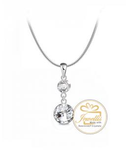 Ocelový náhrdelník Brilline RIvoli s krystaly Swarovski - chirurgická ocel 316L