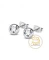 Ocelové náušnice Crystal Ball s krystaly Swarovski - chirurgická ocel 316L