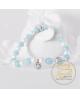 Náramek z přírodních kamenů, perel a krystalu Swarovski