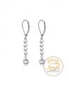 Ocelové visací náušnice Decent Drops s perlami a krystaly Swarovski - chirurgická ocel 316L