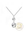 Ocelový náhrdelník Dangle Briliant Rivoli s krystaly Swarovski - chirurgická ocel 316L