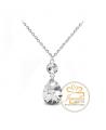 Ocelový náhrdelník ve tvaru kapky Princess Pear s krystaly Swarovski - chirurgická ocel 316L