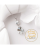 Ocelový náhrdelník Princess Pear s krystaly Swarovski - chirurgická ocel 316L